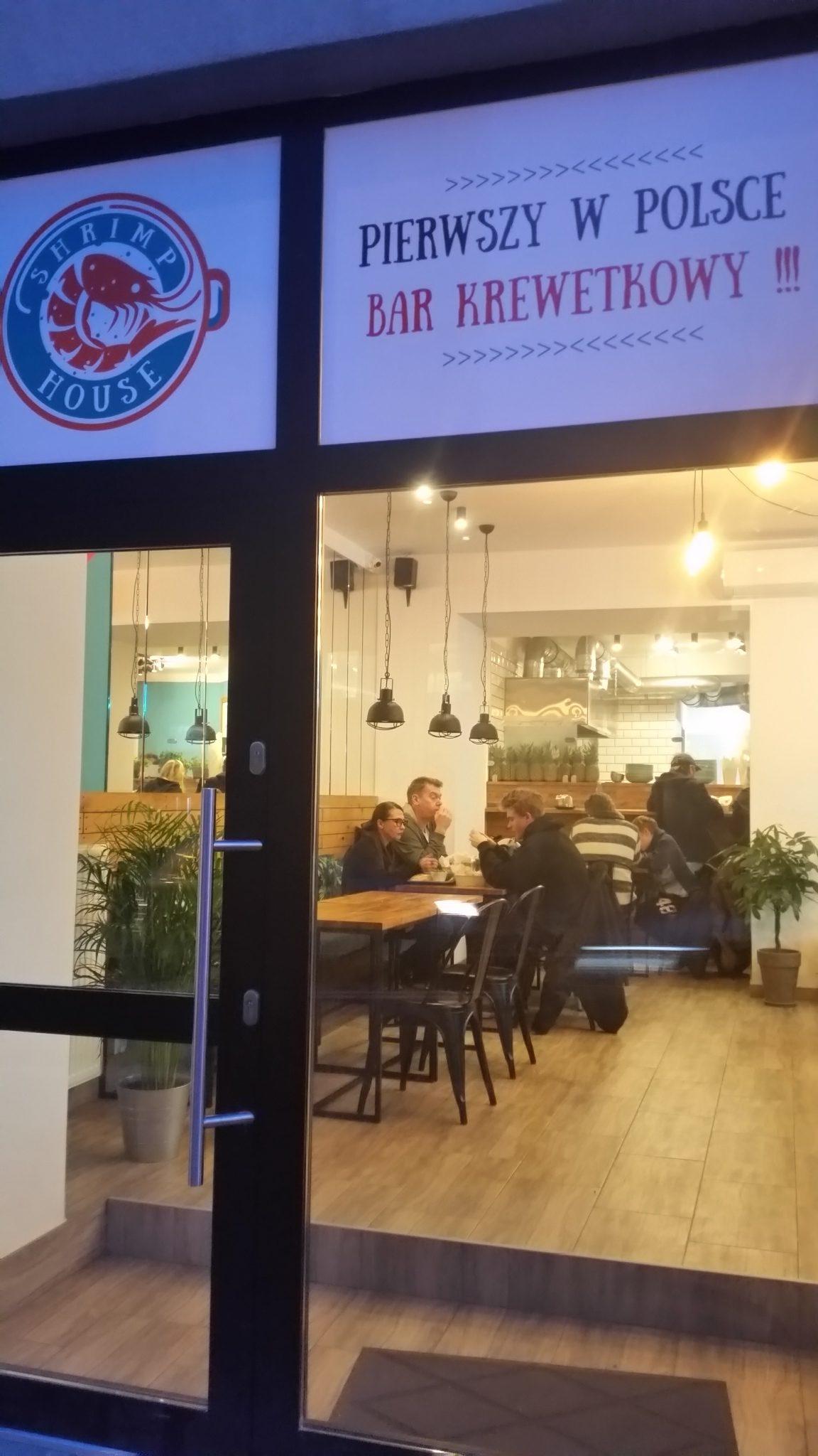 Первый в Польше bar krewetkowy,в Варшаве на улице Тамка 47.